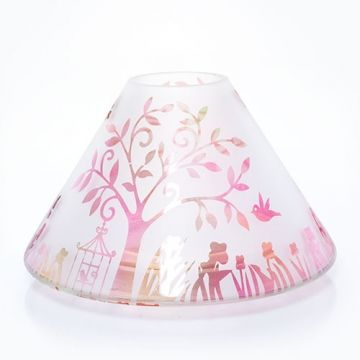 Enchanted Garden Frosted Jar Candle Shade Yankee