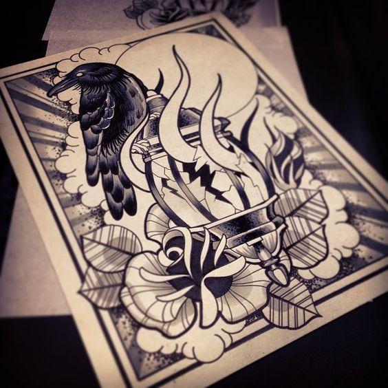 Another Crazy Sketch By Coty Vondracek Tattoostagecom