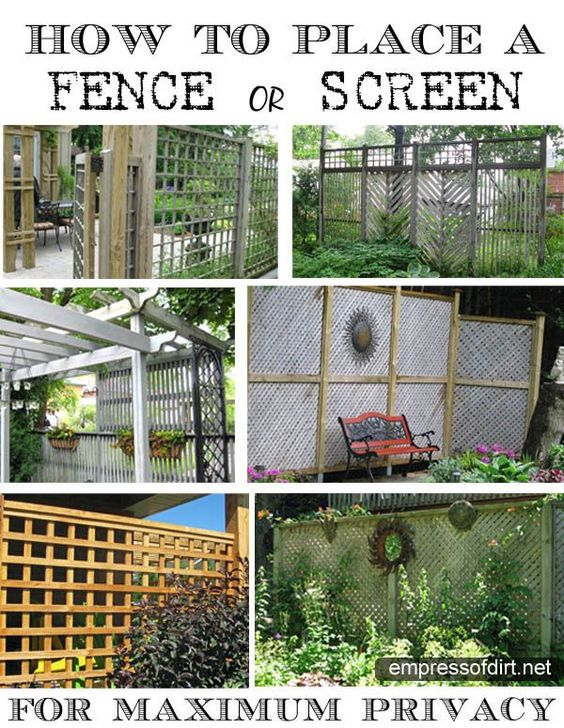 Garden Fence & Screen Privacy Ideas Pinterest Gardens Deer