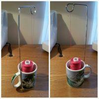 Cone thread holder stand