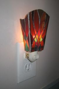 Stained glass night light by JButlerArt on Etsy | Stained ...