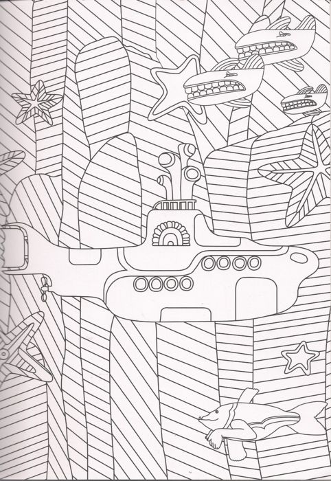 the beatles yellow submarine coloring page  coloring