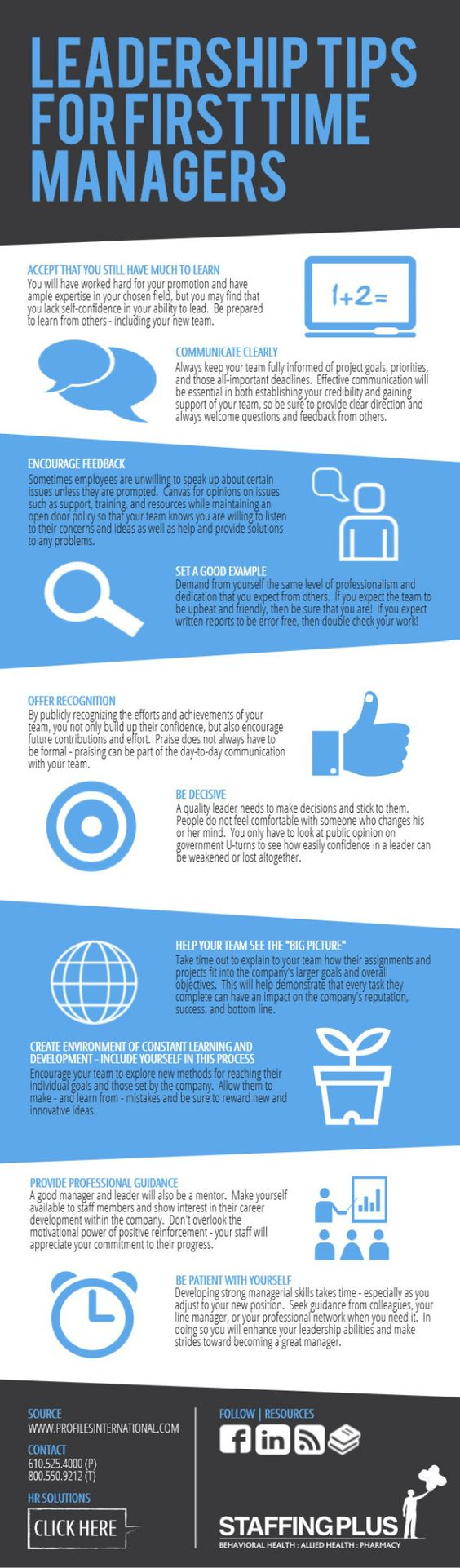 Leadership tips for first time managers #infografia #infographic #leadership: