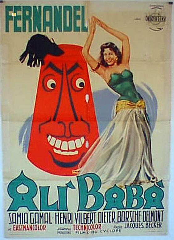 1954 Ali baba et les Quarante Voleurs - Film français réalisé par Jacques Becker. Fernandel et Samia Gamal: