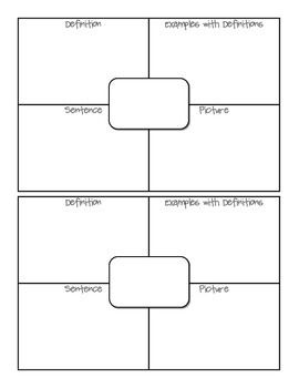 *FREE* 4 PART VOCABULARY GRAPHIC ORGANIZER
