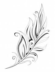 ombre hair color feather tattoos