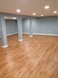Teak, Laminate flooring and Basements on Pinterest