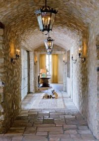Tuscan style Gallery with barrel-vault ceiling. | Rustic ...