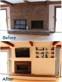 Fireplace Remodel: DIY a fireplace facade to cover an old ...