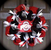 Ohio State Wreath, OSU Wreath, Buckeye Wreath, Red and ...