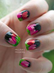 tulips nails flower nail art