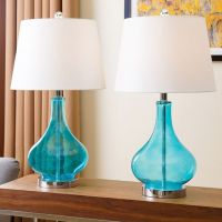 Turquoise, Glass table lamps and Table lamp sets on Pinterest