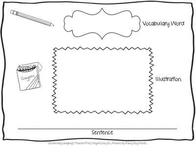 Vocabulary, Graphic organizers and Vocabulary graphic