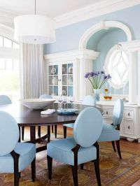 Beautiful, Blue dining rooms and Crown moldings on Pinterest