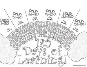Attendance chart 180 days! This would be great in their