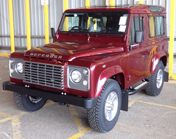 Excellent Maroon Defender 90 With Grey Trim  Land Rover