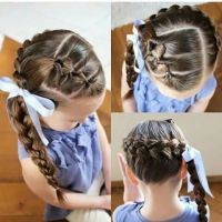 Topsy tail Dutch side braid | Hairstyles for girls ...