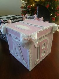 Pink And White Money Card Box / Gift Card Box / Baby