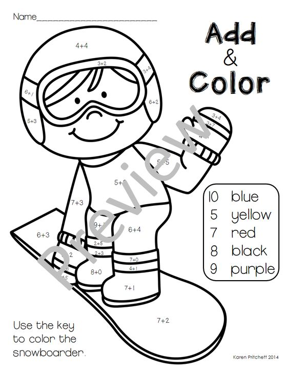 Winter sport, Free coloring and Winter on Pinterest