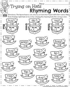 Words, Hats and Kindergarten worksheets on Pinterest