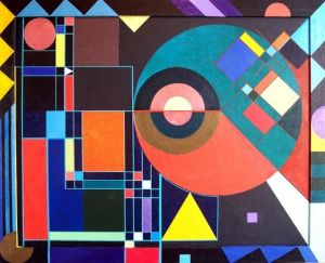 abstract shape shapes simple painting drawings geometric form face paintings hidden fine kandinsky discover