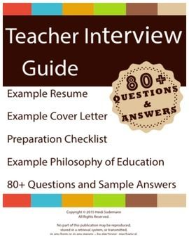 Sample Job Interview Questions And Answers For Teachers Letter Of