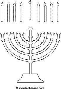 Happy Hanukkah menorah and candles activity sheet