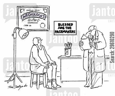 pacemaker cartoon humor: Blessed are the pacemakers