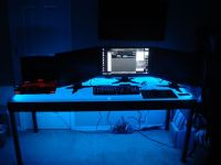Computer Desk LED Lighting using an easy installation LED ...