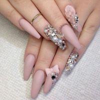 Long matte pink coffin nails | nails | Pinterest | Nail ...