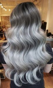 silver hair waves and beauty magazine
