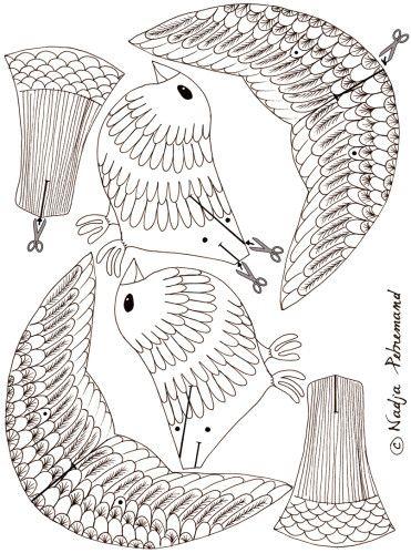 FREE printable DIY coloring bird (+ tutorial for making a