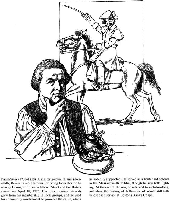 Dovers, Coloring and Paul revere on Pinterest