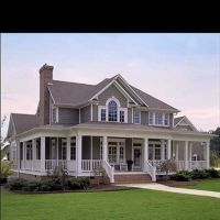 southern home plans with porches | Wrap around porches ...