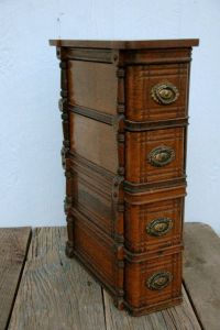 Sewing cabinet, Vintage wood and Sewing machine drawers on ...