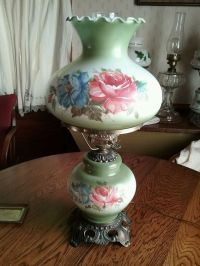 Vintage Antique Large Gone with The Wind Lamp Hurricane ...