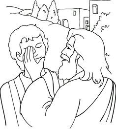 Jesus heals, Sunday school and Coloring pages on Pinterest