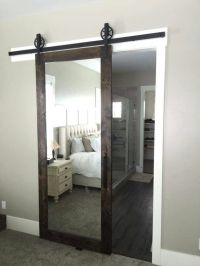 LOVE this mirrored barn door for a master bedroom! | Dream ...