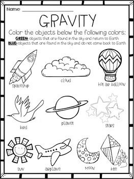 This gravity activity or assessment will make a great