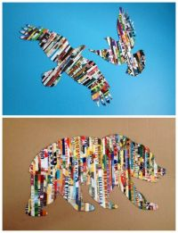 Magazine Strip Silhouette Wall art | DIY Cozy Home | Neat ...