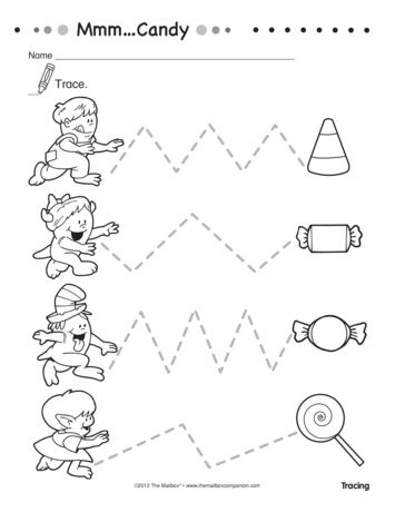 This worksheet for little ones pairs fine motor skills