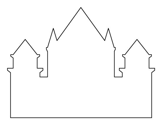 Castle pattern. Use the printable outline for crafts