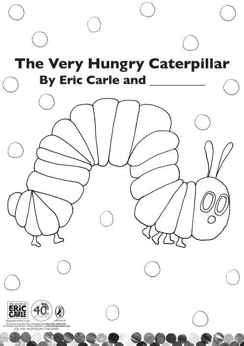 Coloring, Caterpillar and Very hungry caterpillar on Pinterest