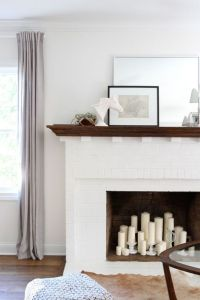 White brick fireplace, simple styling | Family & Living ...