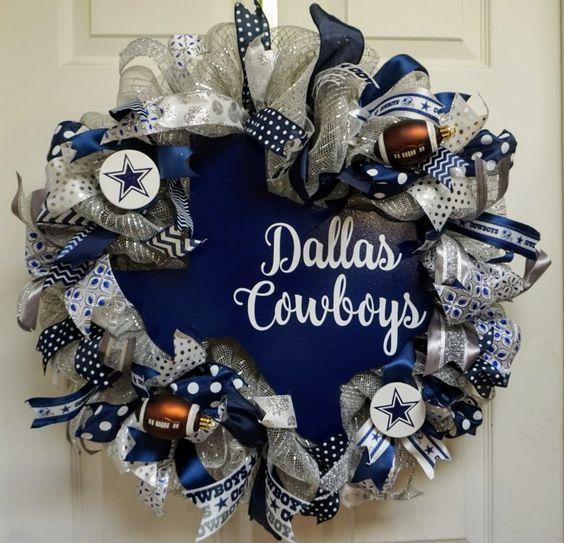 Dallas Cowboys Wreath, Cowboys Wreath, Dallas Wreath