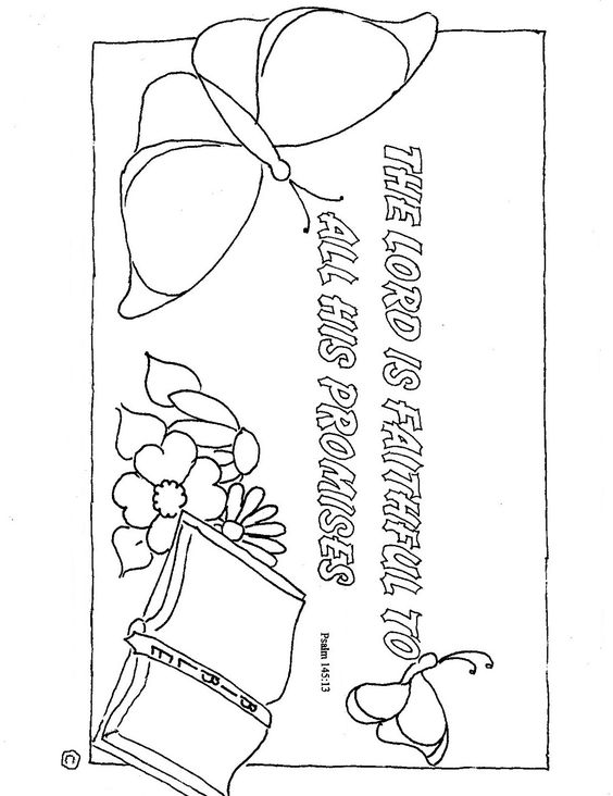 Coloring, God is faithful and Free printable coloring