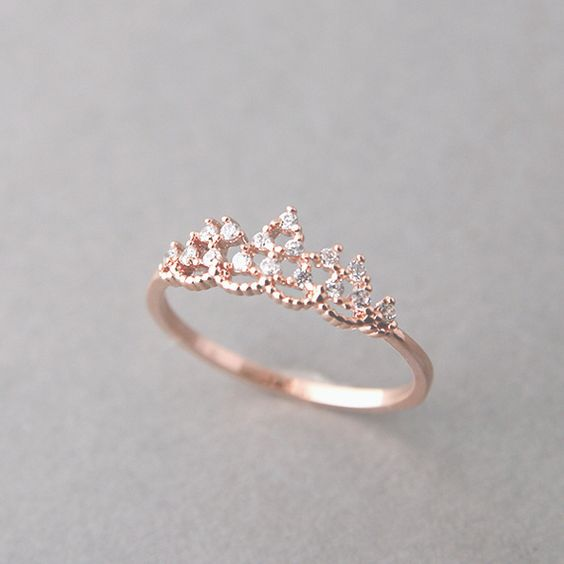 Promise rings, Tiara ring and Princesses on Pinterest