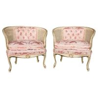 Corner chair, Pink satin and Barrel chair on Pinterest