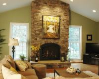 living rooms with vaulted ceilings images   Traditional ...