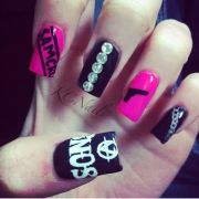 sons of anarchy nails. hot pink